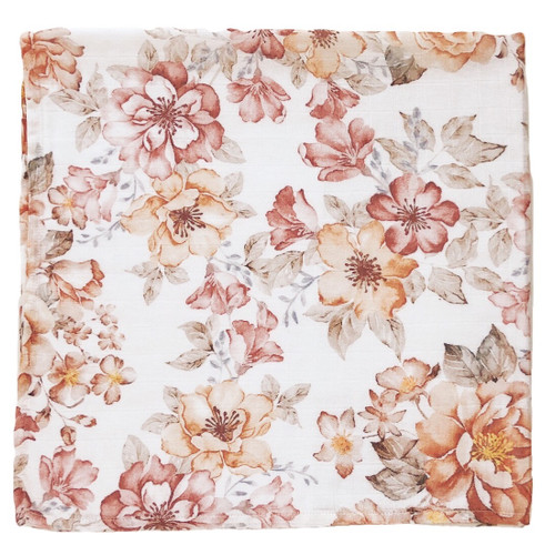 Muslin Swaddle Blanket, Sunset Floral