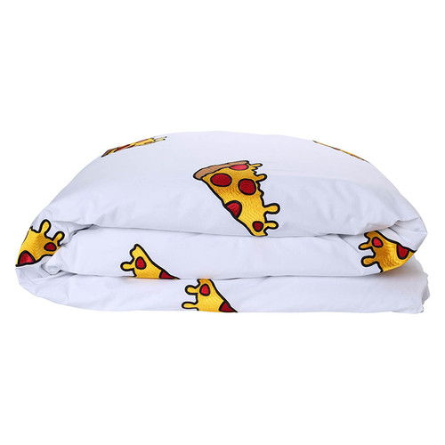 Twin Embroidered Duvet Cover, Pizza