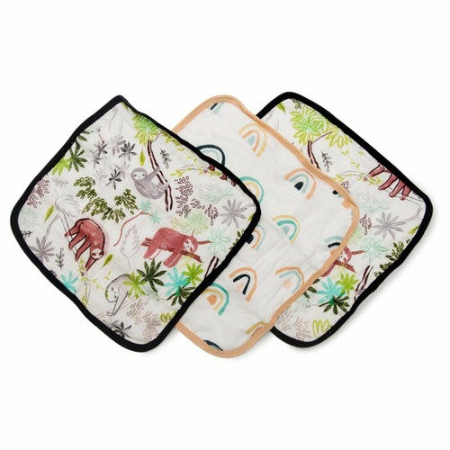 Wash Cloth Set, Sloth