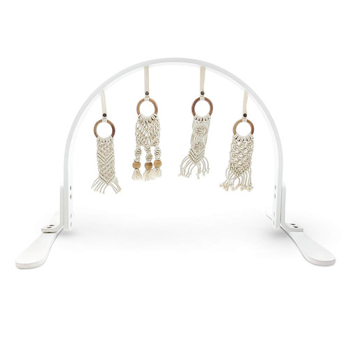 Macrame Play Gym, White