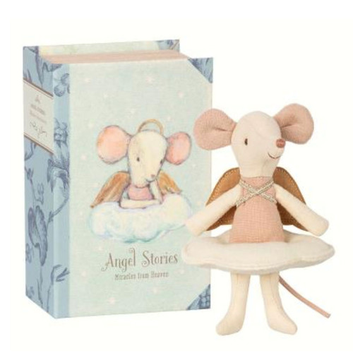 Angel Mouse in Book Box