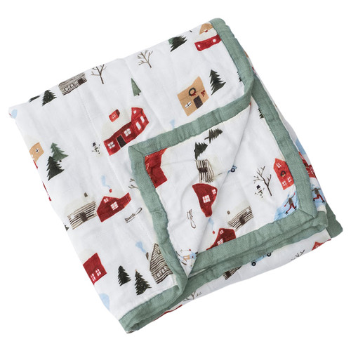 Winter Village Deluxe Muslin Quilt