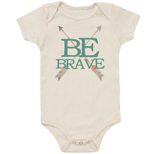 Organic Cotton Bodysuit, Be Brave