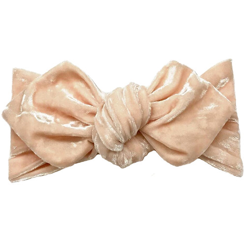 Top Knot Headband, Crushed Peach