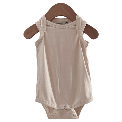 Sleeveless Bodysuit, Vanilla
