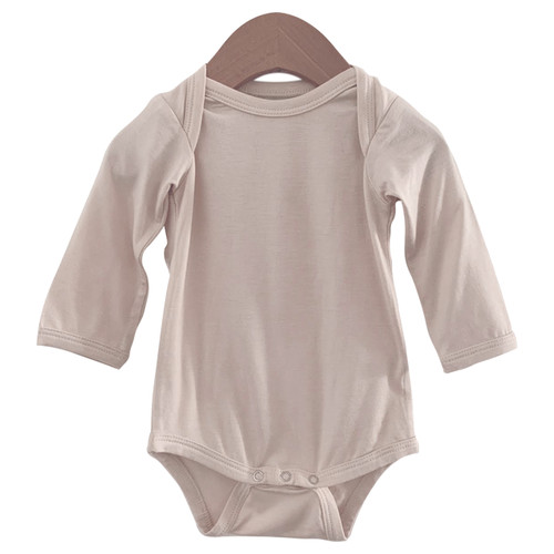 Long Sleeve Bodysuit, Vanilla