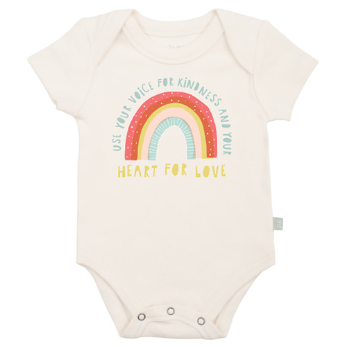 Graphic Bodysuit, Heart for Love