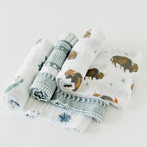 Muslin Swaddle Set, Bison