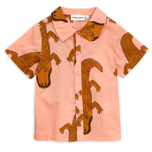 Mini Rodini Crocco Short Sleeve Shirt, Pink