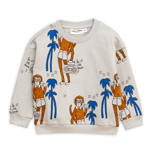 Mini Rodini Cool Monkey Sweatshirt, Grey