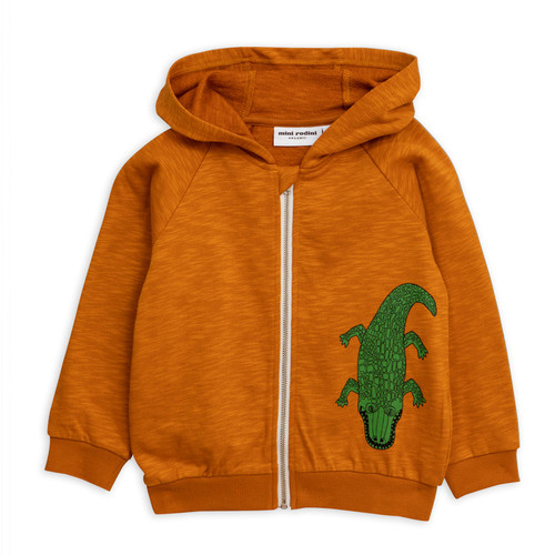 Mini Rodini Crocco Zip Hoodie, Brown
