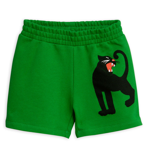 Mini Rodini Panther Sweatshorts, Green