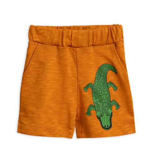 Mini Rodini Crocco Sweatshorts, Brown