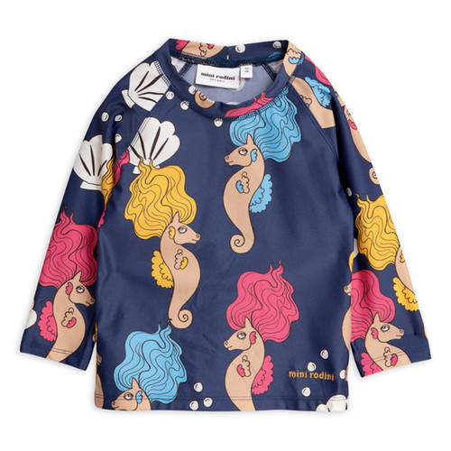 Mini Rodini Seahorse UV Top, Navy