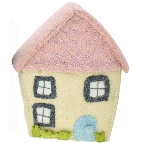 Wall Decoration, Pink Roof House