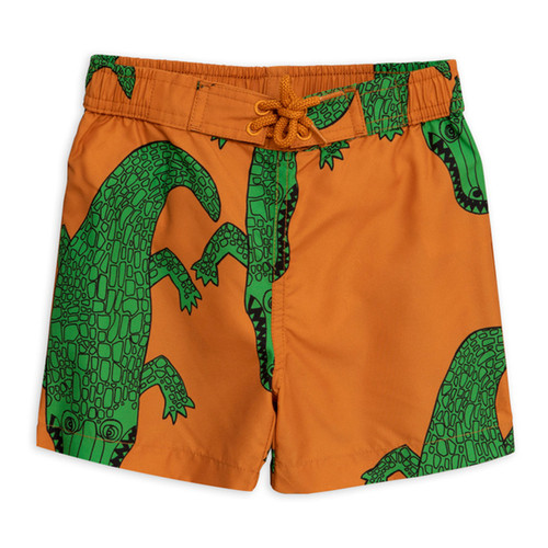 Mini Rodini Crocco Swimtrunk, Brown