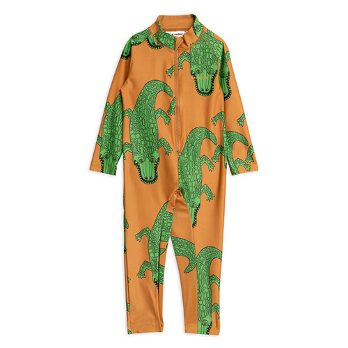 Mini Rodini Crocco UV Suit, Brown