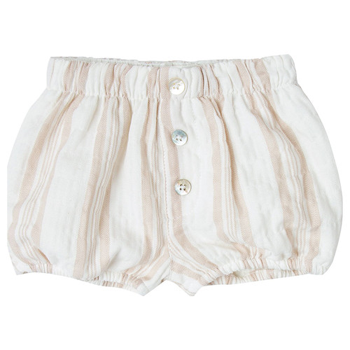 Rylee & Cru Button Short, Sand Stripe