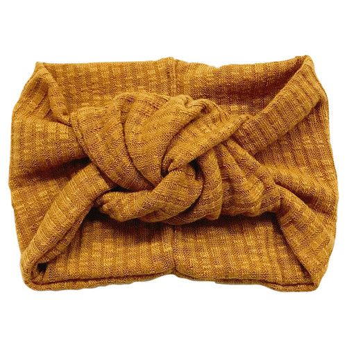 Twist Knot Headband, Mustard