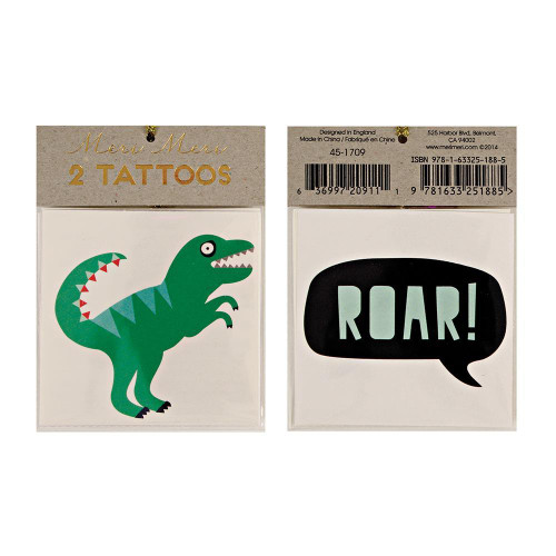 "Dinosaur ""ROAR"" Tattoos"