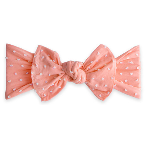 Knot Bow, Shabby Dot Coral