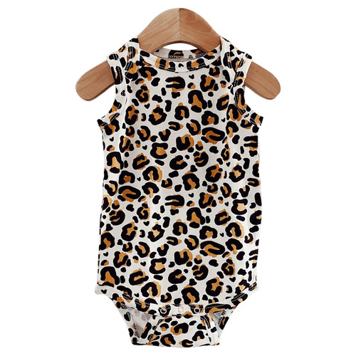 Sleeveless Bodysuit, Leopard