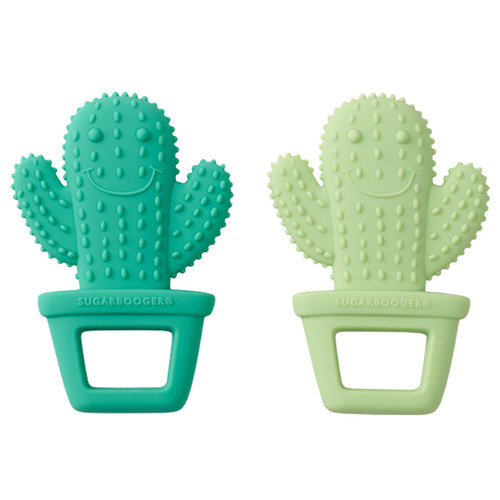 Silicone Teether Set, Happy Cactus