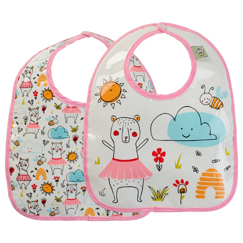 Mini Bib Set, Clementine Bear