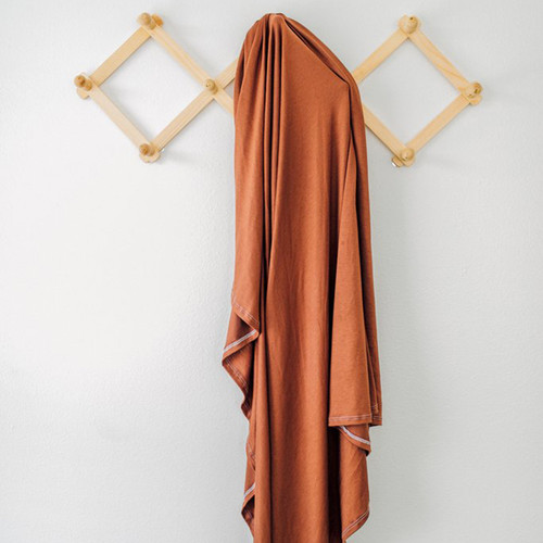 Jersey Stretch Swaddle, Solid Rust