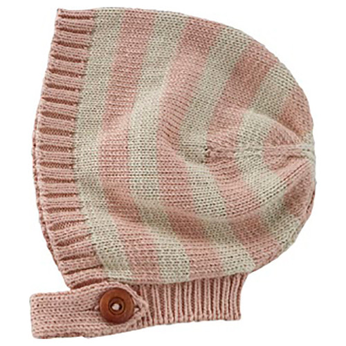 Billie Knit Bonnet, Blush Stripe