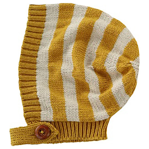 Billie Knit Bonnet, Mustard Stripe