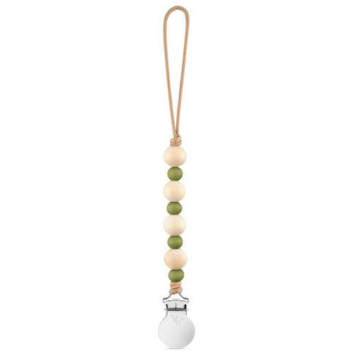 Ruth Cutie Pacifier Clip, Army Green