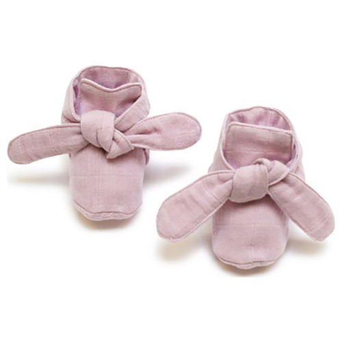 Knotted Booties, Pink Lilac