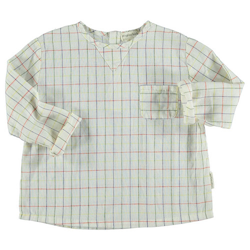 Round Collared Shirt, Checkered