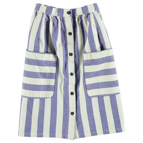 Skirt, Blue Stripes