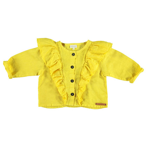Jacket with Frills, Yellow