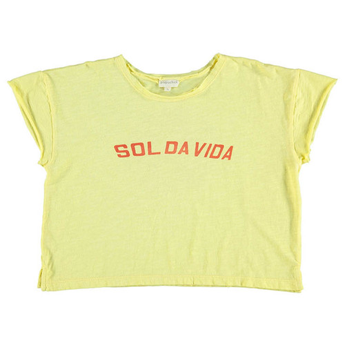 "T-Shirt, Yellow ""sol da vida"""
