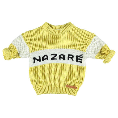 "Knit Sweater, Yellow ""Nazare"""