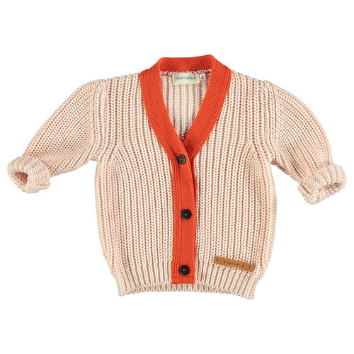 Knit Cardigan, Salmon