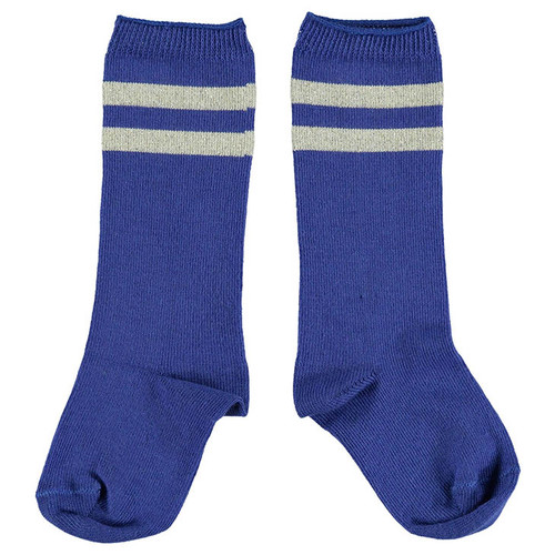 Socks, Blue/Golden Stripes