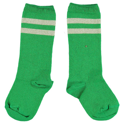 Socks, Green/Golden Stripes