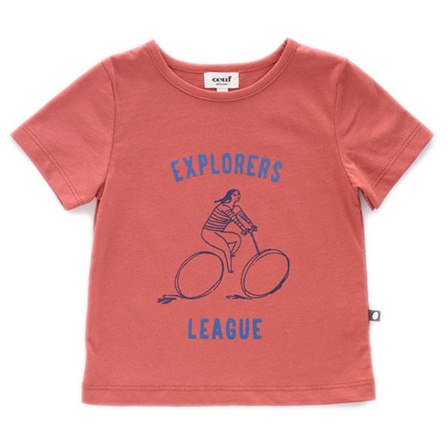 Oeuf Tee Shirt, Rust/Explorer