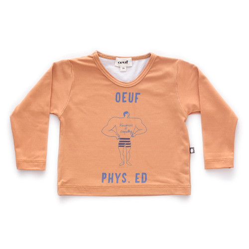 Oeuf Rash Guard, Ochre/Phys Ed