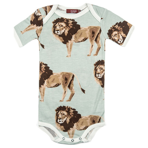Lion Bamboo Short Sleeve Bodysuit