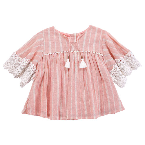 Louise Misha Sterlitzia Dress, Blush Stripes