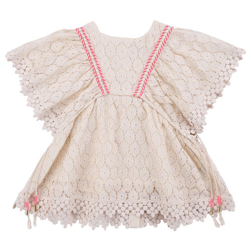 Louise Misha Norah Dress, Cream Flower Lace