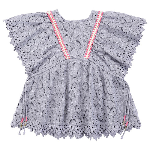 Louise Misha Norah Dress, Silver Cloud Flower Lace