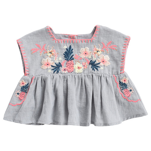 Louise Misha Tilu Top, Silver Cloud