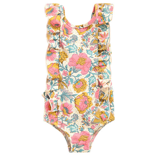Louise Misha Bermude Bathing Suit, Multi Flowers