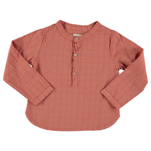 Paul Check Shirt, Terracota